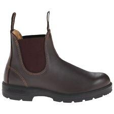 Blundstone 550 Walnut Brown Unisex Leather Slip-On Round-toe Chelsea Boots