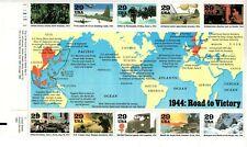 UNITED STATES MINT SHEET WORLD WAR II 1944 ROAD TO VICTORY
