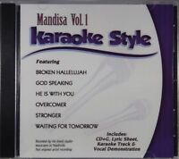 Mandisa Volume 1 Christian Karaoke Style NEW CD+G Daywind 6 Songs
