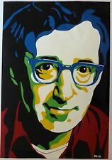 Woody Allen, Porträt, Lackfarbe auf Papier, 60x80 cm, Gemälde von Peter Böhm
