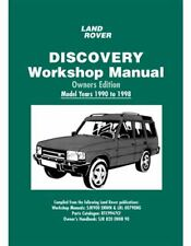 Land Rover Discovery Owners Edition Workshop Manual 1990 - 1998 Book