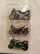 (4) Diecast Racing Motorcycles (1) Kawasaki/(3) Yamaha (Pre-Owned)