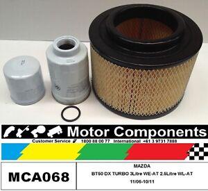 FILTER KIT MAZDA BT50 DX Turbo Diesel WL-AT 2.5L WE-AT 3L 2006 > 11 Oil Air Fuel