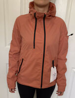 Lululemon Size 4 On The Trails Jacket  Coral RUSC Zip Up DWR Vents Packable