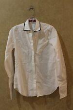 55e877733748d2 Women's Carolina Herrera White Cotton hidden Button Down Shirt Top Sz 2 __  R19E1