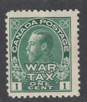 "Canada MINT OG Scott #MR1 1 cent green ""War Tax""   F"