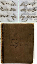 """New listing Civil War Era Copy Book Early Inked """" Carbon Paper """" Invention - Prestigious Dr."""