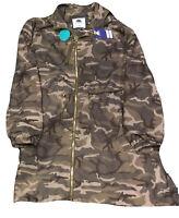 1 Sunset Lane Womens JK-JR-1023 Winderbreaker Jacket Olive Camo Size Large