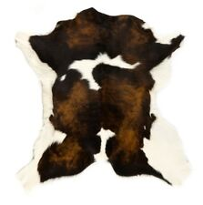 Calf Hair on Cow Hide Natural Rug, Huge Selection of Colours Black Brown & White