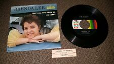 "BRENDA LEE ""I'm Sorry/That's All You Got To Do"" DECCA 9-31093"
