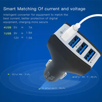 Quick Charge 3.0 4 Port USB Car Charger Adapter Fast Charging For iPhone Android