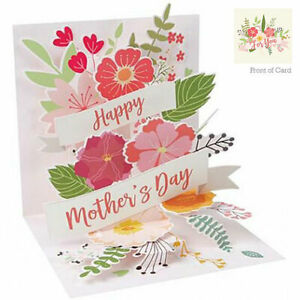 3D Pop Up Greeting Card from Up With Paper - BOUQUET FOR MOM - UP-WP-MD-1339