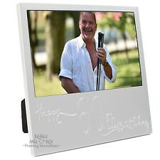 New Engraved Silver 60th Birthday Photo Frame Gift Celebration Memory Picture