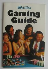 Gaming Booklet For The Sands Hotel & Casino Atlantic City