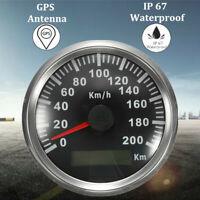 200KM/H Voiture Moto GPS Compteur Vitesse Odomètre Tachymètre Indicateur Etanche