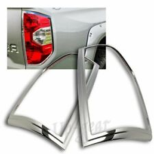 For 2014-2016 Toyota Tundra ABS Chrome Trim Bezel Rear Tail Light Lamp Cover 2PC