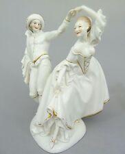 Große Figur,Tanzender Harlekin mit Dame, Ernst Bohne Söhne / Rudolstadt um 1920