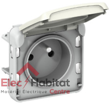Prise de courant 2P+T 16A composable étanche Plexo blanc Legrand 69621