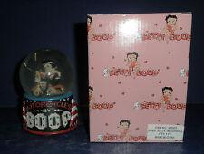Croche Biker Betty Boop Water Globe- New in Box- Wb911