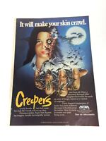 CREEPERS Orig 1986 2-piece Print AD advert promo Dario Argento Jennifer Connelly