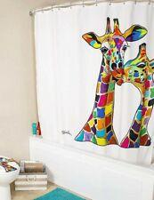 Croydex Fabric Shower Curtain Francie & Josie Giraffe Bathroom Machine Washable