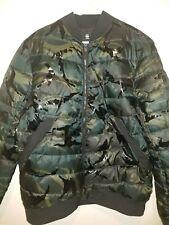 G-Star Raw Camouflage Bomber Jacket Parka Winter Army Flight Puffer Down Coat 2X