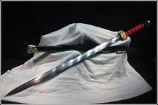 "HIGH QUALITY CHINESE SWORD ""HAN JIAN ""(劍) FOLDED STEEL PATTERN STEEL SHARP BLADE"