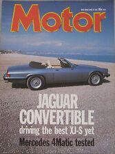 Motor magazine 30/4/1988 featuring Jaguar, Mercedes road test, Citroen