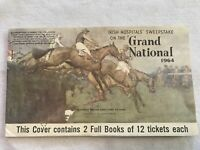 1964 Irish Hospitals Sweepstake On The GRAND NATIONAL Obsolete Book Of Tickets