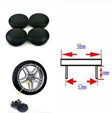 4PCS/Set Durable Car Wheel Hub Center Caps Black Cover