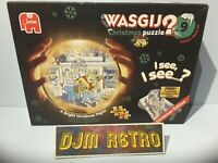 USED 1000 Piece WASGIJ Jigsaw Puzzle 17307 (9) A BRIGHT CHRISTMAS NIGHT & CARDS