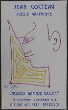 Litho / Affiche Jean Cocteau - Poësie Graphique