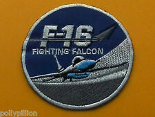 MILITARY SEW ON / IRON ON PATCH:- UNITED STATES NAVY F16 FIGHTING FALCON