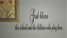 God bless this school and the Children who play Vinyl Wall Decal Decor Letters