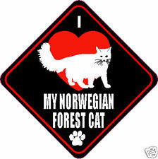 "I Love (Heart) My Norwegian Forest Cat 4"" Sticker"