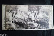 STA871 Glacier de Grindelwald Braun Dornach STEREO albumen Photo stereoview