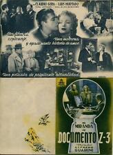 Programa PUBLICITARIO de CINE:  DOCUMENTO Z - 3.