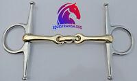 FULL CHEEK HORSE BIT/SNAFFLE COPPER MIX(GERMAN SILVER) LOZENGE STAINLESS STEEL