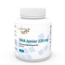 Vita World DHA Junior 220mg Omega 3 120 capsule per bambini Made in Germany EPA