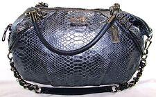 COACH Madison SOPHIA BLUE PYTHON EMBOSED LEATHER SATCHEL Handbag Purse Hobo