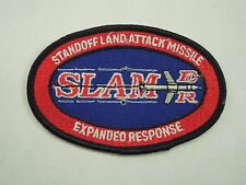 Vintage SLAMER Standoff Land Attack Missile Expanded Response Iron On Patch #2