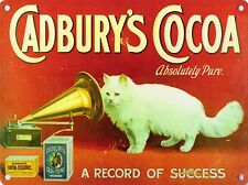 Cadbury's Cocoa, Gramophone Cat Cafe Kitchen or Restaurant Novelty Fridge Magnet