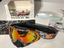 Oakley Mayhem MX Goggle TLD Signature 57-662 black piston bone/fire iridium rare