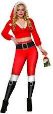 Christmas Holiday Santa Claus Leggings Women's Bright & Colorful Xmas Red OS
