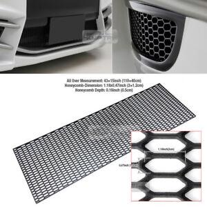 "5_Black Honeycomb Hexagon Mesh ABS Grille Fog Custom DIY Kit 43""x15"" for FIAT"