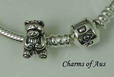 PANDORA Genuine bracelet WITH Sterling Silver 925 Teddy Bear Charm. Christmas!!