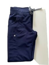 Figs Scrub Cargo Pants Technical Collection Navy Xs Tall