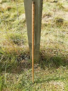 Antique Wooden Haberdashers Rolling Cloth Stick Ruler Brass Tipped Circa 1930's