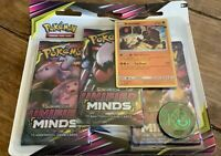 Pokemon - Unified Minds 3 booster blister pack sealed - 100% Original