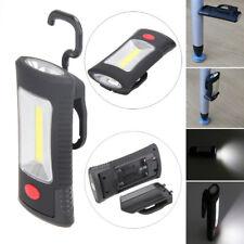 COB LED Work Light Hanging Camping Lamp Flashlight Torch w/ Magnetic Hook 2 Mode